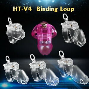 2021 New V4 Cage with Binding Loop Ring Male Chastity Device Bondage Belt Fetish