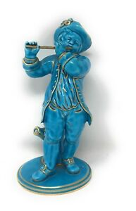 Antique Sevres Flute Player Figurine, Bleu Celeste, Marked 1751 - 1753