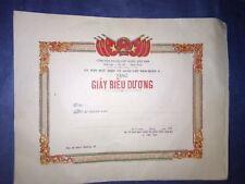 "Original socialist Republic of Vietnam ""Certificate of Commendation"""