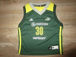 Breanna Stewart #30 Seattle Storm WNBA adidas Jersey Baby Toddler 4T