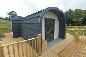 Glamping pod composite camping Home office with Ensuite and kitchenette