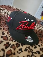 CHICAGO BULLS Snap Snapback 9Fifty New Era 950 CAP Hat OSFA Black RED 2 tone NBA