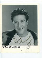 Fernando Allende Hoping Heart Flamingo Road Signed Autograph Photo