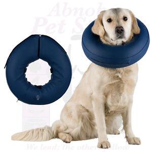 Dog Protective Collar, Inflatable lick & bite protection for wounds & eczmas