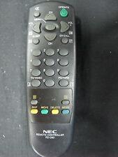 GENUINE NEC TV/AV REMOTE CONTROL MODEL : RD-D80
