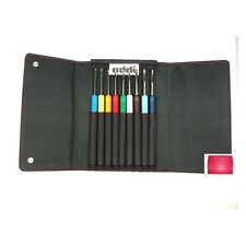 addiColours Häkelnadel Set Art. 648-7 mit Etui, 9 addi Colours Häkelnadeln