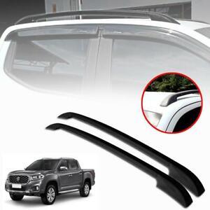 Roof Rack Bar Matte Black For MG Extender Maxus T70 4 Doors Pickup 4WD 2020-2021
