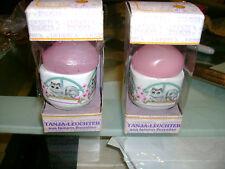 2 Nib Vintage West Germany Porcelain Candle Holder Funny Design Cats Candles