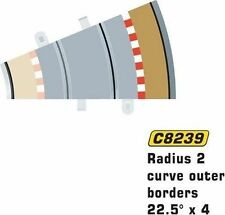 Scalextric Radius 2 Outer Borders and Barriers X 4 Ref No C8239