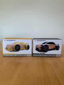 Automoblox Minis C9-R 116 Yellow Sportscar & S9-R Sport Sedan Black/Blue 294 Car