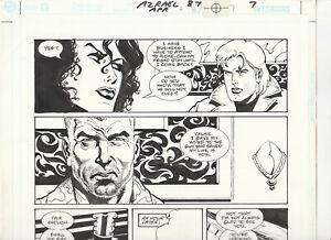 Signed Original Comic Book Art Page AZRAEL AGENT OF THE BAT Sergio Cariello