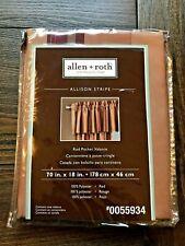 Allen + Roth ALLISON Stripe Valance - Rod Pocket 70 x 18in - NEW