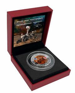 2021 Fiji Mars Rover 31.5 g Titanium $0.50 Coin GEM BU