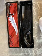 GIL HIBBEN Raptor Fantasy Knife Fighter with Signed Sheath. Double Shadow