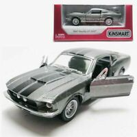 Kinsmart 1:38 Die-cast 1967 Shelby GT500 Car Grey Model with Box Collection