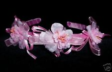New Flower Girls Bridesmaid Party Headbands One Size Pink Ivory White Blue Red