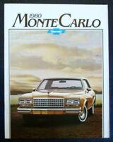 CHEVROLET MONTE CARLO CAR SALES BROCHURE 1980.