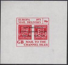 GB Postal Strike Channel Isles #4 MNH 20p Arms S/S 1971