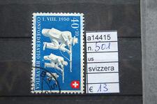 FRANCOBOLLI SVIZZERA USATI N°501 (A14415)