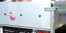 Heckklappe für Stema PKW Anhänger Opti inkl Scharniere Rückwand Bordwand Neu