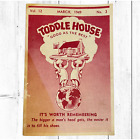 """Vintage March 1949 Toddle House """"Good As The Best"""" Restaurant Digest"""