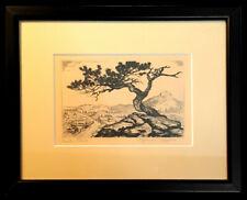 "Lyman Byxbe, ""Estes Park"", Drypoint and Engraving, 3 X 4 3/4 - BID $1 - No Resrv"