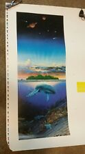 Robert Lyn Nelson Print whale shark stingray sunset space inland