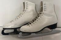 Riedell Womens Figure Ice Skates w/ MK Sheffield Steel Blades Size 7-8 w/ guards