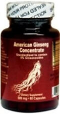 American Ginseng Concentrate, 60 Capsules, 500mg/cap, 1 Month Supply!