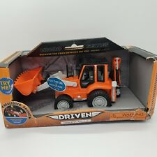 DRIVEN Battat Backhoe Loader Micro Series Toy Tractor Realistic Sounds NEW