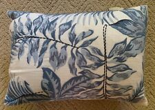 Pottery Barn Baby Pillow, Nantucket Embroidered Palm Pillow, Blue, Nwt