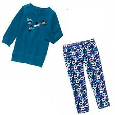 Gymboree 2 pc Butterfly Garden Sequin Bird Top 5/6 & Floral Jeggings 5 NWT