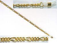 Brillenkette  Figarokette aus Metall gold, nickelfrei - elastische Schlaufen