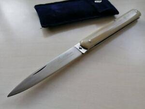Coltello Tradizional Sfilato siciliano ST horn italian KNIFE 21cm made in italy
