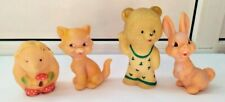 VINTAGE RUBBER TOYS OF THE USSR. LOT 4 TOYS
