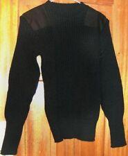 Maglioni e cardigan da uomo nere in lana con girocollo