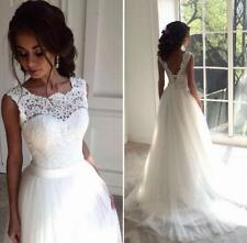 New Boho Lace Tulle Wedding Dress Summer Beach Bridal Gown Bohemian Wedding Gown