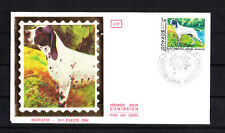 MONACO   enveloppe 1er jour expo canine  chien  braque    1984