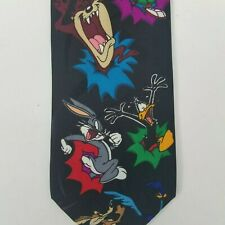 Looney Tunes Taz Wiley Marvin Martian Bugs Bunny Tweety Bird Sylvester Tie