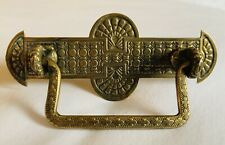 "Brass Art Nouveau Victorian Eastlake Antique Bail Drawer Pull 2 3/4""centers"