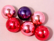 Solid Glass Christmas Ornaments Lots of 6