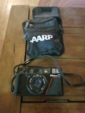 Nikon L35AF 35mm Point and Shoot Film Camera and case.