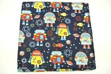 Robots Rockets Planets Space Baby Blanket Can Be Personalized XL 42x42