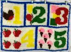 Childs Room Hand Crafted Yarn Loop Latch Hook Rug or Wall Hanging Vintage #21E