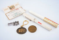 Collection of Pentax Camera Advertising Key Chain Tie Tack Pins Pens V14