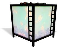 lampada da  tavolo girevole ombre cinesi originale vintage paesaggio marino