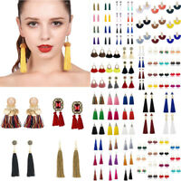 Women Fashion Boho Tassel Hook Hoop Erarrings Drop Dangle Earring Jewelry