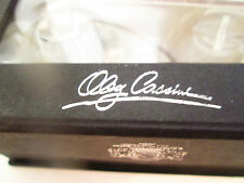 "Oleg Cassini Crystal Salt & Pepper NIB ""SIGNATURE"" on Box & Etched on Crystal"