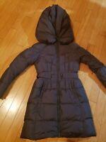 EUC Add Down Icon 10 womens steel down coat with shawl collar hood size US 4