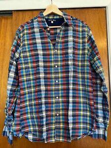 Alex Mill - Men's Button-Down Shirt - Blue Plaid - Medium